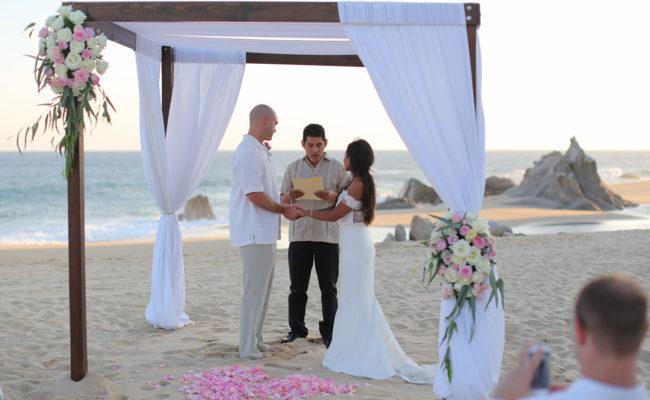 beach wedding in cbao